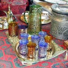 beautiful tea glasses