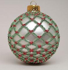 beaded ornament... going to learn how to do this