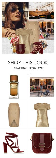 """""""These pages of gold...."""" by bklana ❤ liked on Polyvore featuring Dolce&Gabbana, Michael Kors, Gianvito Rossi, Burberry, gold, bklana and pagesofgold"""