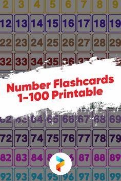 Free Printable Numbers, Printable Cards, Printables, Blends Worksheets, Vowel Worksheets, All About Me Worksheet, Numbers 1 100, Number Flashcards, Learn To Count