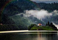 Colibita Lake, Bistrita-Nasaud, Romania (by Florin Chiteala) Carpathian Mountains, Famous Castles, European Countries, Places To Visit, History, Pictures, Painting, Travel, Photos