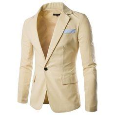 2016 New Arrival Autumn Casual Blazer Mens Wedding Slim Fit Blazer Masculine Blazer Coat Single Button Suit men blazer 9083
