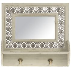 Found it at Wayfair.co.uk - Wooden Wall Mirror/Hanger