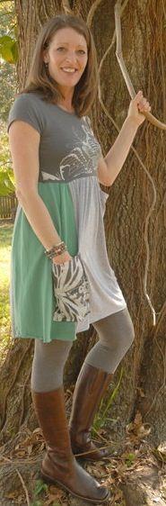 "Recycled ""butterflies"" tshirt dress"