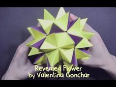 #54 Kusudama Revealed Flower by Valentina Gonchar (part 1 of 2) - Yakomoga Origami tutorial - YouTube