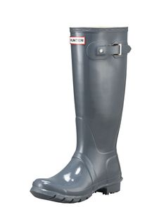 Tall Gloss Boot, Women's, Size: 5B, Grey - Hunter Boot