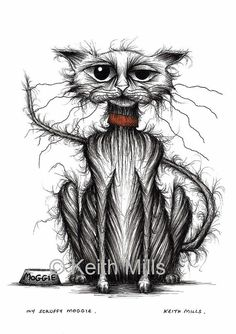 My scruffy moggie Print download by KeithMills on Etsy