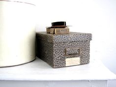 Index Card File Box  Card Catalog  Vintage by SnapshotVintage