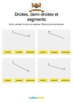 Le but de l'exercice est de dire quelle est la nature du tracé. Est-ce une droite, une demi-droite ou un segment ? Catégorie : Géométrie Module : Droites, demi-droites et segments Application téléchargeable sur l'AppStore. Pour en savoir plus : https://www.youtube.com/watch?v=jnBPUgB48Wg