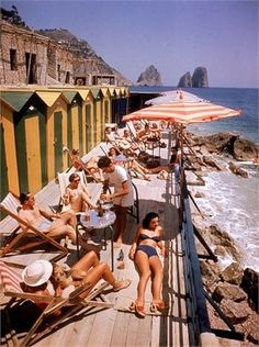 """Capri 1948 - Photo by Ralph Crane / Time Life Pictures / Getty Images. There is a reason why Capri has been coined """"paradise on earth"""", it is absolutely magnificent! Kiss me I'm Italian . Go to Capri! Summer Aesthetic, Aesthetic Vintage, Travel Aesthetic, Nyc Subway, Positano, Nostalgic Pictures, Vintage Pictures, Vintage Chanel, Vintage Kiss"""