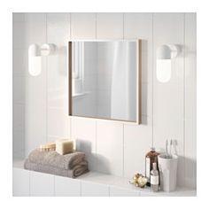 SKOGSVÅG Spiegel, weiß, Buchenfurnier - weiß/Buchenfurnier - IKEA