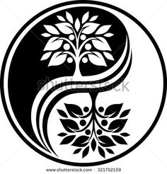 yin-yang tree | Yin Yang Tree Stock Photos, Royalty-Free Images & Vectors ...