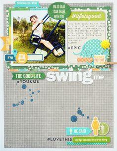 *Jillibean Soup* Swing Me - Scrapbook.com - Made with Jillibean Soup supplies.