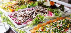 Salads and vegetarian food every day at Marconfort Griego Hotel buffet