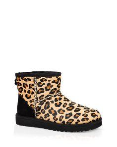 Ugg Australia Booties - Classic Mini Leopard Calf Hair