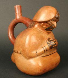 Museo Chileno de Arte Precolombino » Botella asa estribo antropomorfa: erótica