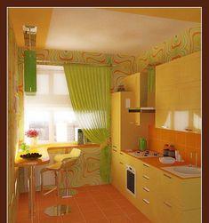 Kitchen design orange color