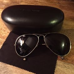 """Authentic Michael Kors Aviators These are Authentic Michael Kors """"Kennedy"""" sunglasses. Purchased from Belk for $110. Minimal wear. Has some fine scratches but you have to really look close to see. Does not affect normal wear. Michael Kors Accessories Sunglasses"""