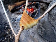 Camping Style Crescent Rolls - fill with chocolate or cheese :)