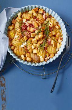 Schwedische Ofenkartoffeln mit Rosmarin und Schinken