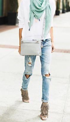 Spring Trend: How to Wear Fringe  #fringe #spring #springfashion #trend2015