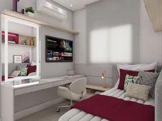 Room Design Bedroom, Girl Bedroom Designs, Small Room Bedroom, Room Ideas Bedroom, Bedroom Decor, Home Design Decor, Home Design Plans, Dream Rooms, Dream Bedroom