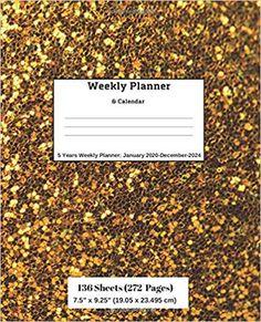 Amazon.com: Weekly Planner & Calendar, 5 Years Planner: January 2020-December-2024 (9781696505925): Ricky Lee: Books