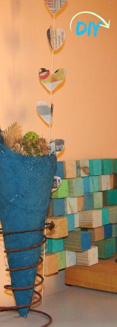 En Una Tarde Imaginativa: Cuadro con bloques de madera