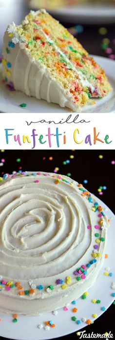 A vanilla funfetti cake is one of life's many simple pleasures.