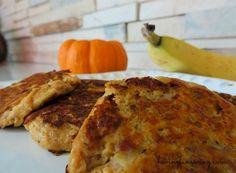 Pumpkin Banana Pancakes Recipe I had someone ask me on Twitter the other day for a low-fat pumpkin pancake recipe, so I got a bit creative in the kitchen a