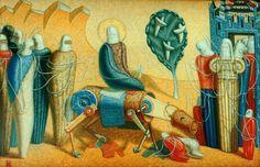 Вход в Иерусалим. 1995, холст, масло, 80х140 Painting, Art, Art Background, Painting Art, Kunst, Paintings, Performing Arts, Painted Canvas, Drawings