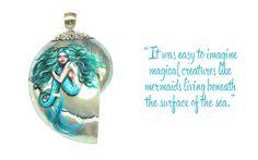 Made It Designer Spotlight Anne-Marie Broughton Art - Handpainted Mermaid Nautilus Shell Pendant