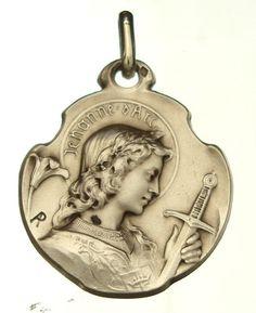 Antique Joan of Arc medal