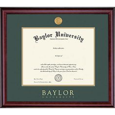 Definitely don't forget to get a frame for your #Baylor diploma!