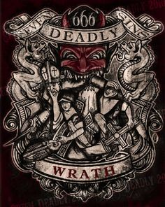 SE7EN DEADLY - DEADLY WRATH PRINT 11x14