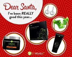 Do your christmas shopping at my website!! We have amazing holiday packs that are only here for a few more days don't miss out visit my website today www.wrappingvargas.myitworks.com
