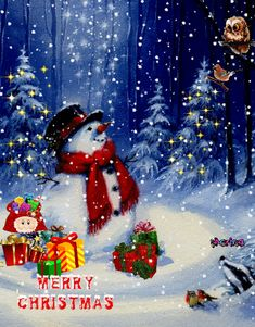 Merry Christmas Gif, Disney Characters, Fictional Characters, Disney Princess, Painting, Art, Art Background, Painting Art, Kunst
