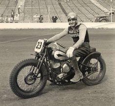 Vintage Harley Davidson racing - classic