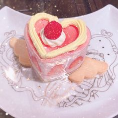 """also these cute desserts 😙💖"" Dessert Kawaii, Food Porn, Pink Foods, Cute Desserts, Pink Desserts, Cafe Food, Aesthetic Food, Cute Cakes, Chocolates"