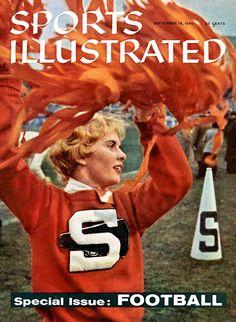 Preppy Vintage Syracuse University Cheerleader Varsity Letterman Sweater from Sports Illustrated Cover #PreppySyracuse