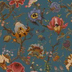 ARTEMIS Wallpaper Petrol | House of Hackney floral