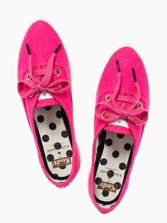 They had me at PINK! keds for kate spade new york pointer sneaker