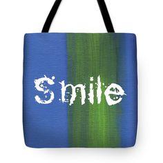 Tote Bags - Smile Tote Bag by Kathleen Wong