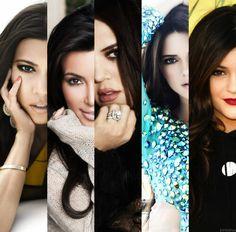 Kourtney, Kim and Khloe Kardashian, Kendall and Kylie Jenner.
