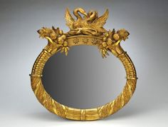 American Empire Giltwood Mirror, c. 1820