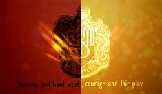 Gryffindor and Hufflepuff quote (GIF)  --  lady snark