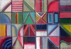 """Texto"", acrylic on canvas, 65 x 45 cm. 2012 . By Diego Manuel"