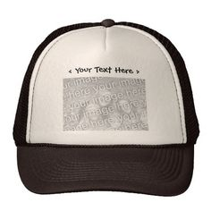 Custom Photo with Text Hat