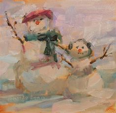 "Daily Paintworks - ""Merry Christmas..."" - Original Fine Art for Sale - © Brande Arno"