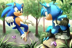 Commission: Sonic and Zenit by Myly14